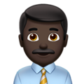 Man Office Worker: Dark Skin Tone on Apple iOS 14.2