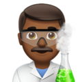 Man Scientist: Medium-Dark Skin Tone on Apple iOS 14.2