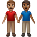 Men Holding Hands: Medium Skin Tone, Medium-Dark Skin Tone on Apple iOS 14.2