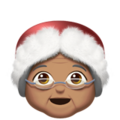Mrs. Claus: Medium Skin Tone on Apple iOS 14.2