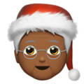 Mx Claus: Medium-Dark Skin Tone on Apple iOS 14.2