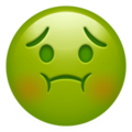Nauseated Face on Apple iOS 14.2