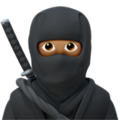 Ninja: Medium Skin Tone on Apple iOS 14.2
