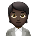 Office Worker: Dark Skin Tone on Apple iOS 14.2