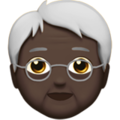 Older Person: Dark Skin Tone on Apple iOS 14.2