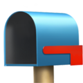 Open Mailbox with Lowered Flag on Apple iOS 14.2