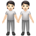 People Holding Hands: Light Skin Tone on Apple iOS 14.2
