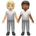 People Holding Hands: Medium-Light Skin Tone, Medium-Dark Skin Tone on Apple iOS 14.2
