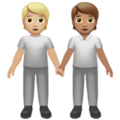 People Holding Hands: Medium-Light Skin Tone, Medium Skin Tone on Apple iOS 14.2