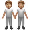 People Holding Hands: Medium Skin Tone on Apple iOS 14.2