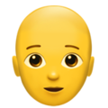 Person: Bald on Apple iOS 14.2