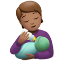 Person Feeding Baby: Medium Skin Tone on Apple iOS 14.2