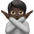 Person Gesturing No: Dark Skin Tone on Apple iOS 14.2