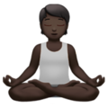 Person in Lotus Position: Dark Skin Tone on Apple iOS 14.2