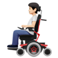 Person in Motorized Wheelchair: Light Skin Tone on Apple iOS 14.2