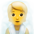 Person in Steamy Room on Apple iOS 14.2