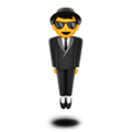 Person in Suit Levitating on Apple iOS 14.2