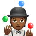Person Juggling: Medium-Dark Skin Tone on Apple iOS 14.2