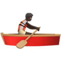 Person Rowing Boat: Dark Skin Tone on Apple iOS 14.2