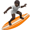 Person Surfing: Dark Skin Tone on Apple iOS 14.2