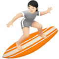 Person Surfing: Light Skin Tone on Apple iOS 14.2