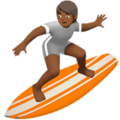Person Surfing: Medium-Dark Skin Tone on Apple iOS 14.2