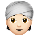 Person Wearing Turban: Light Skin Tone on Apple iOS 14.2