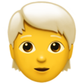 Person: White Hair on Apple iOS 14.2