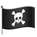 Pirate Flag on Apple iOS 14.2