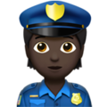 Police Officer: Dark Skin Tone on Apple iOS 14.2