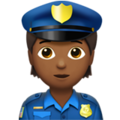 Police Officer: Medium-Dark Skin Tone on Apple iOS 14.2