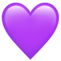 Purple Heart on Apple iOS 14.2