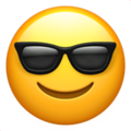 Smiling Face with Sunglasses on Apple iOS 14.2