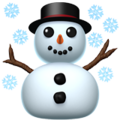 Snowman on Apple iOS 14.2