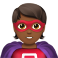 Superhero: Medium-Dark Skin Tone on Apple iOS 14.2