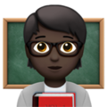 Teacher: Dark Skin Tone on Apple iOS 14.2