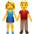 Woman and Man Holding Hands on Apple iOS 14.2