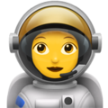 Woman Astronaut on Apple iOS 14.2