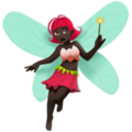 Woman Fairy: Dark Skin Tone on Apple iOS 14.2