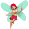 Woman Fairy: Medium-Light Skin Tone on Apple iOS 14.2