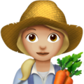 Woman Farmer: Medium-Light Skin Tone on Apple iOS 14.2