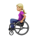 Woman in Manual Wheelchair: Medium-Light Skin Tone on Apple iOS 14.2