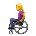 Woman in Manual Wheelchair on Apple iOS 14.2
