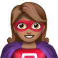 Woman Superhero: Medium Skin Tone on Apple iOS 14.2