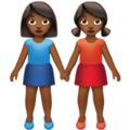 Women Holding Hands: Medium-Dark Skin Tone on Apple iOS 14.2