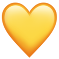 Yellow Heart on Apple iOS 14.2