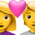 Couple With Heart: Woman, Person on Apple iOS 14.5