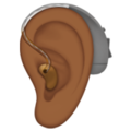 Ear with Hearing Aid: Medium-Dark Skin Tone on Apple iOS 14.5