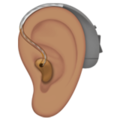 Ear with Hearing Aid: Medium Skin Tone on Apple iOS 14.5