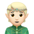 Elf: Light Skin Tone on Apple iOS 14.5